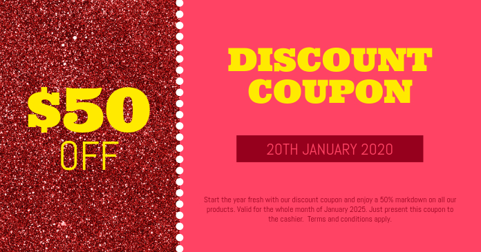 Discount Coupon Template Postermywall