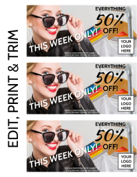 DISCOUNT COUPON Flyer (format US Letter) template