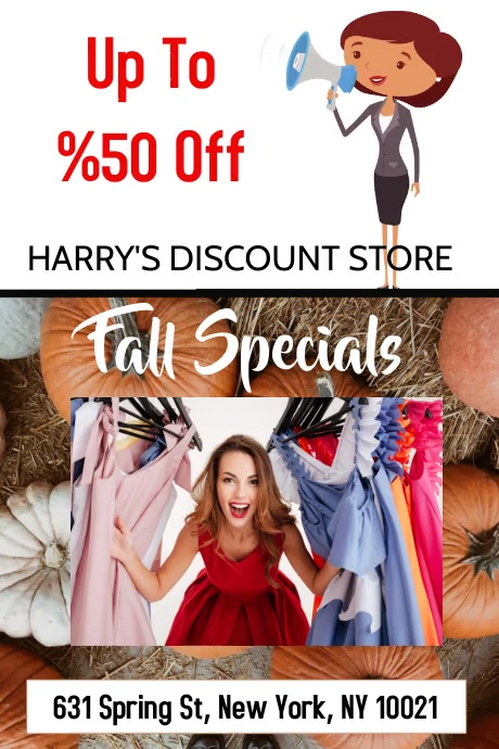 DISCOUNT STORE Poster template