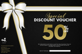 Discount Voucher Card Template Poster