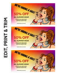 DISCOUNT VOUCHER Flyer (US Letter) template