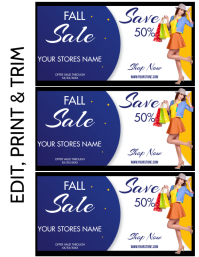 DISCOUNT VOUCHER Flyer (Letter pang-US) template