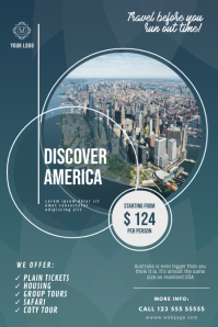Discover America Flyer Design Template