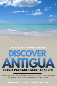 Discover Antigua Poster