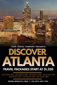 Discover Atlanta Poster template