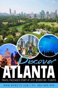 Discover Atlanta Video Poster Affiche template