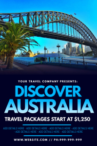 Discover Australia Poster template