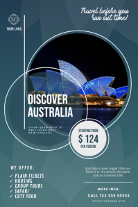 Discover Australia Traveling Flyer Design
