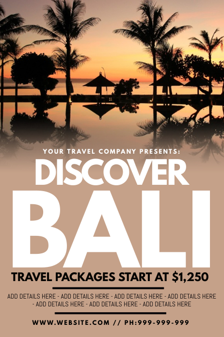 Discover Bali Poster
