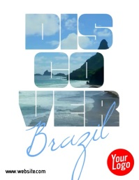 Discover Brazil Travel Video Flyer template