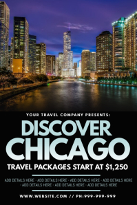 Discover Chicago Poster template