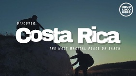 Discover Costa Rica Display Travel Video Digitalanzeige (16:9) template