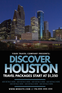 Discover Houston Poster template