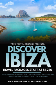 Discover Ibiza Poster template