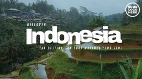 Discover Indonesia Travel Video Display