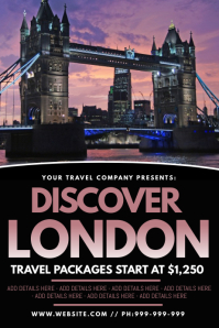 Discover London Poster