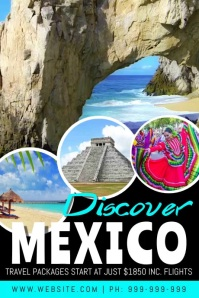 Discover Mexico Video Poster template