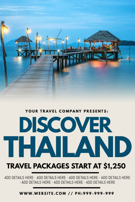 Discover Thailand Poster template