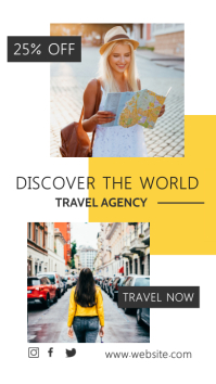 discover the world travel agency advertisemen Instagram-verhaal template