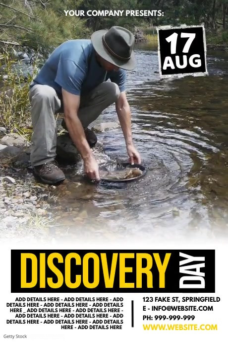 Discovery Day Poster Affiche template