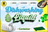 Dishwashing Liquid Label template