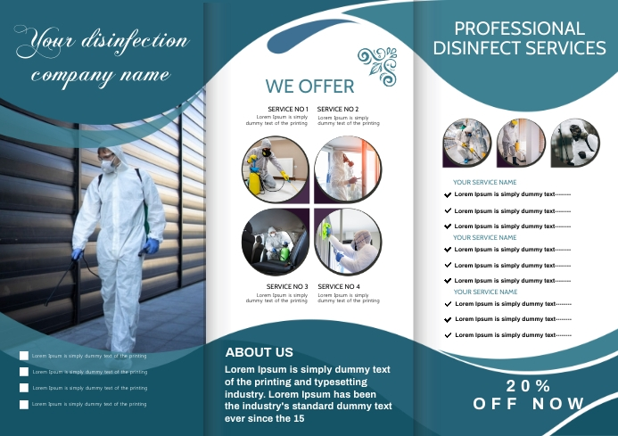 disinfect brochure A4 template