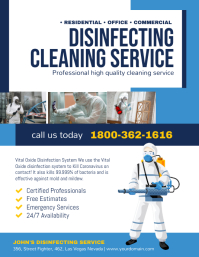 Disinfecting Cleaning Service Poster Flyer (US Letter) template