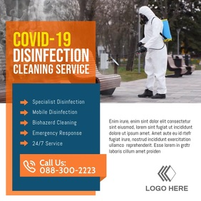 Disinfection cleaning service ad post template