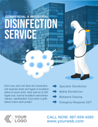 Disinfection cleaning services flyer