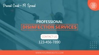 Disinfection Services 16:9 Video Template Digitalanzeige (16:9)