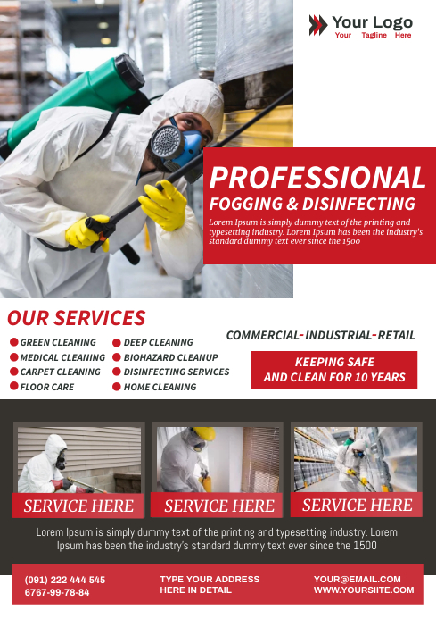 DISINFECTION SERVICES A4 template