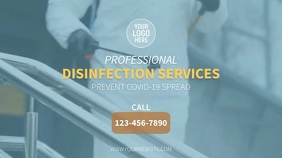 Disinfection Services Ekran reklamowy (16:9) template