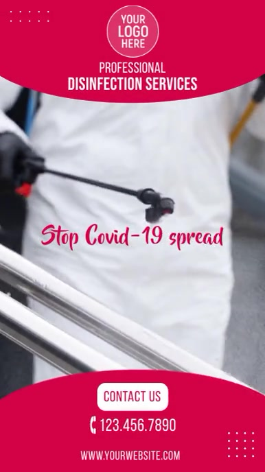 Disinfection Services Instagram Video Ad template
