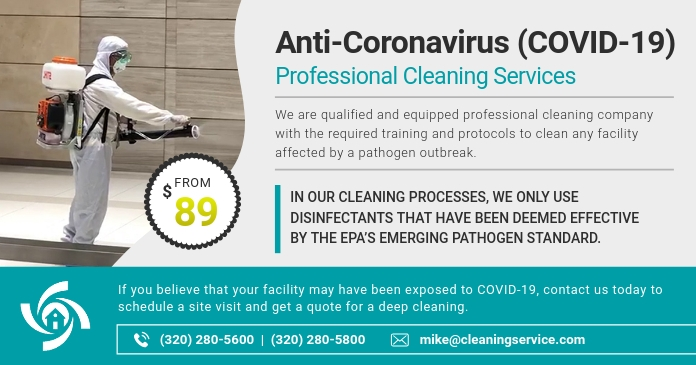 Disinfective Service Business Ad Facebook