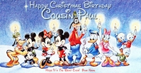 Disney Birthday Facebook Greeting template