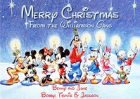 Disney Christmas Greeting Postcard Poskaart template