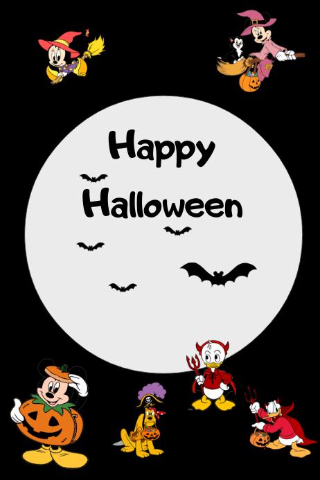 Disney Halloween Poster Template PosterMyWall - Disney flyer template