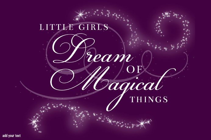 Disney Little Girls Dream of Magical Things Gift Print