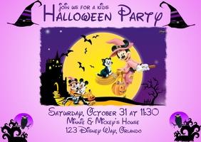 Disney Theme Halloween Invitation