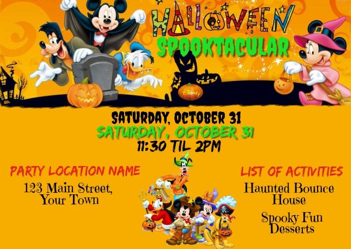 Disney Theme Halloween Spooktauclar