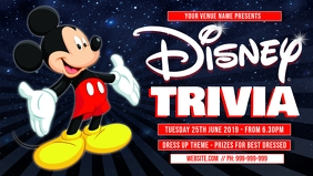 Disney Trivia Facebook Cover Facebook-covervideo (16:9) template