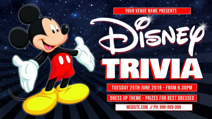 Disney Trivia Facebook Cover Film w tle na Facebooka (16:9) template