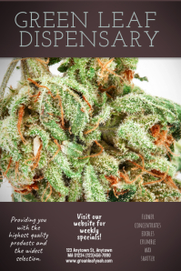 Dispensary Cannabis Marijuana flyer Template