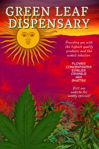 Dispensary Cannabis Marijuana flyer Template