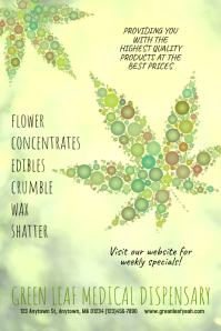 Dispensary Cannabis Marijuana Poster Flyer