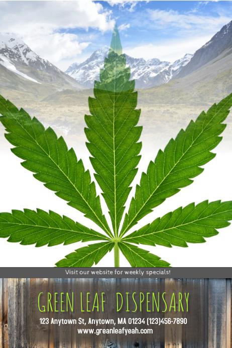 Dispensary Cannabis Marijuana Poster Flyer Template