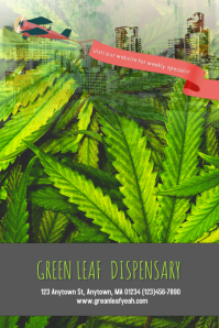Dispensary Cannabis Marijuana Poster Flyer Template