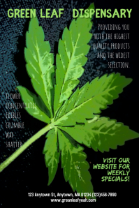 Dispensary Cannabis Marijuana Poster Template