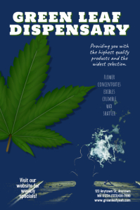 Dispensary Cannabis Marijuana Poster Template