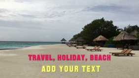 Display Video Travel Beach Poster